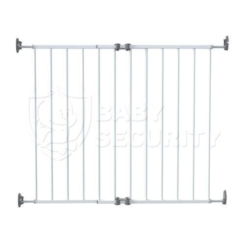 Ворота безопасности металл 64-99,4 см, белые, Safe&Care, арт.110-01