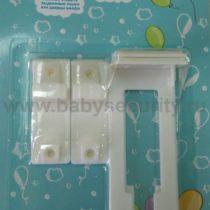 Пластиковая защелка для ящиков и шкафов Baby Lab, арт.100-04