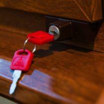 Замок-блокиратор на окна Baby Safe Lock, коричневый, арт.100k