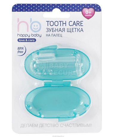 "Зубная щётка на палец в пенале ""Tooth Care"", Happy Baby, арт.20008"