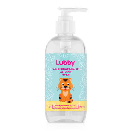 Гель для подмывания детский PH=5.5, Lubby, арт.20576