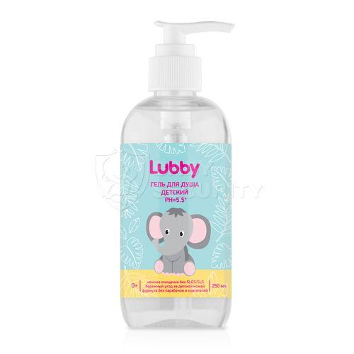 Гель для душа детский PH=5.5, Lubby, арт.20580