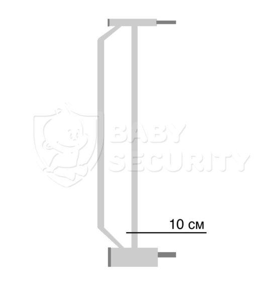 Расширение для ворот безопасности 10 см, Baby Safe, арт.10White