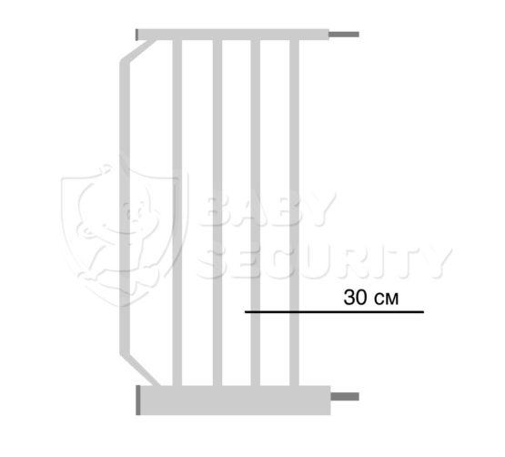 Расширение для ворот безопасности 30см Baby Safe, арт.30White