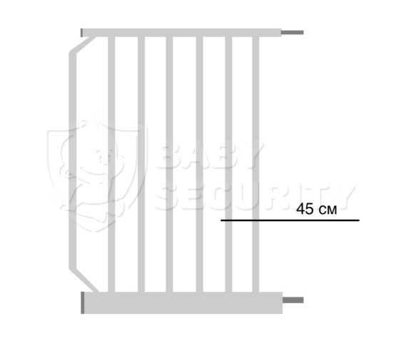 Расширение для ворот безопасности 45см Baby Safe, арт.45White