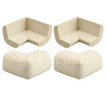 Мягкие накладки на углы, 4 штуки/комплект, светлые, арт.3376