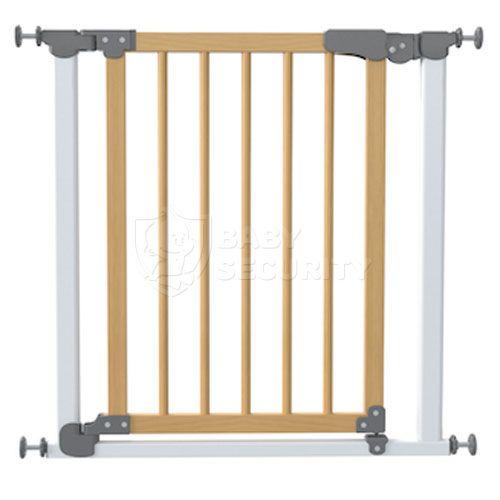 Ворота безопасности с деревом МЕХАНИКА 77-83,5см, Safe&Care, БЕЛЫЕ, арт.340-01