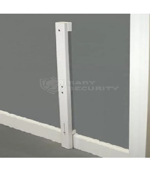 Комплект для установки ворот к стенам с плинтусом, белый, Safe&Care