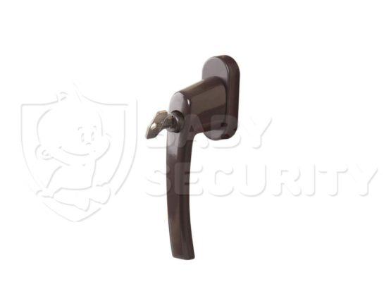 Ручка с ключом ROTOLINE, штифт 35 мм,коричневая